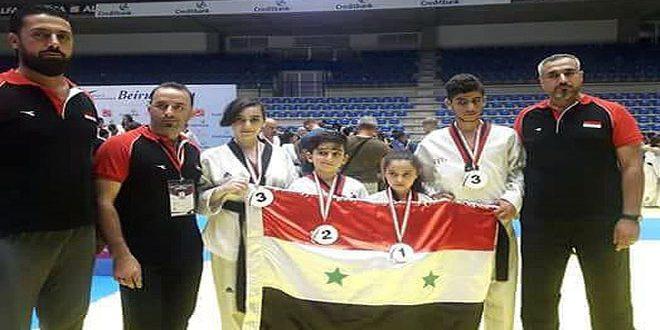 Neuf médailles pour l'équipe syrienne au Championnat international de taekwondo à Beyrouth
