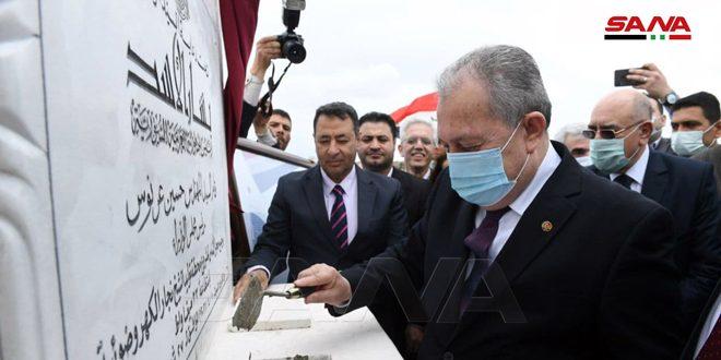 Arnous pose la première pierre du projet de la centrale de génération photovoltaïque de Cheikh Najjar