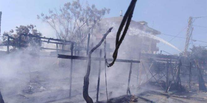 Un enfant mort et des blessés dans un incendie qui a éclaté dans un camp des Syriens déplacés dans le nord du Liban