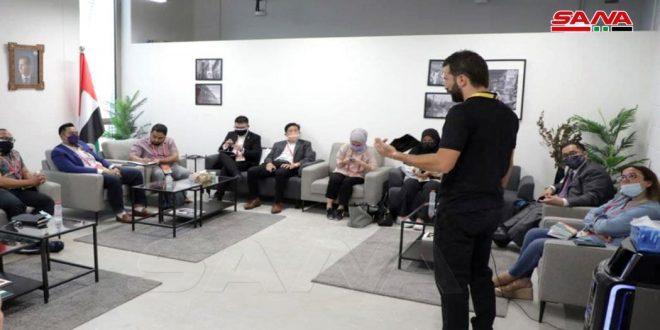 Entretiens entre des représentants du pavillon syrien à l'Expo Dubaï avec leurs homologues de plusieurs pays