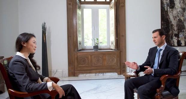 Аль-Асад в интервью гонконгскому спутниковому телеканалу Phoenix TV: Сирия преследует цель ликвидировать терроризм и экстремизм, поддерживаемые извне