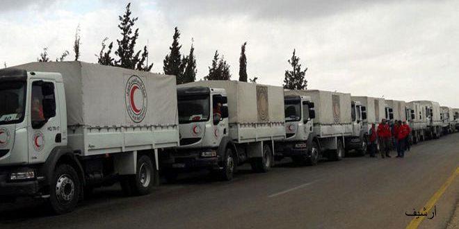 В 7 населенных пунктов на юго-востоке провинции Дараа прибыл гуманитарный конвой