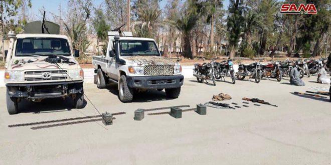 В окрестностях Тадмора в результате засад спецназ САА уничтожили 2 и арестовали 7 террористов