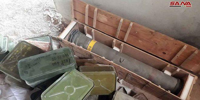 В пригороде Дамаска обнаружено оружие и боеприпасы террористов