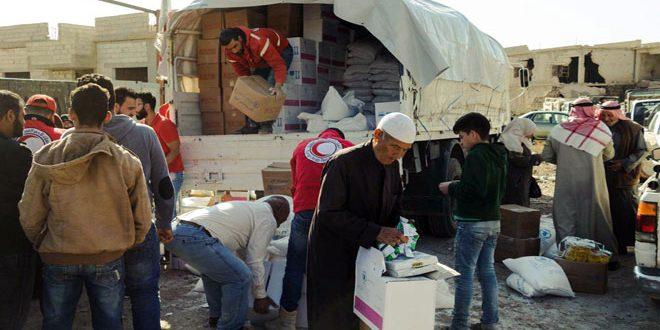 В Босра Аль-Харир провинции Дараа доставлена гуманитарная помощь