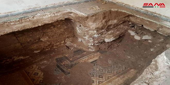 В городе Ар-Растан провинции Хомс обнаружена древняя мозаика