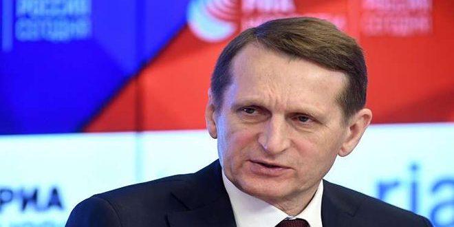 Нарышкин: Войска США не должны быть в Сирии
