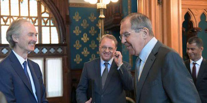 Лавров и Педерсен обсудили ликвидацию терроризма и восстановление безопасности в Сирии