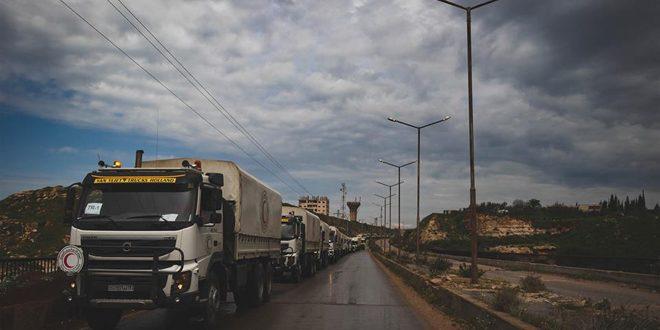 В провинцию Дараа прибыла колонна из 35 грузовиков с гуманитарной помощью
