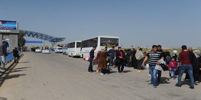 Новая группа сирийских беженцев вернулась из лагеря беженцев «Аль-Азрак» в Иордании