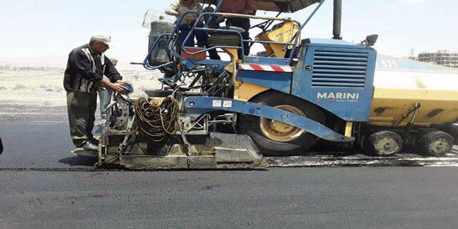 В провинции Дамаск начались работы по асфальтированию дороги в Восточной Гуте