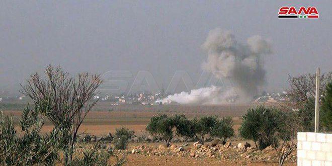 В провинции Идлеб Сирийская арабская армия уничтожила ракетные установки и тренировочные лагеря террористов
