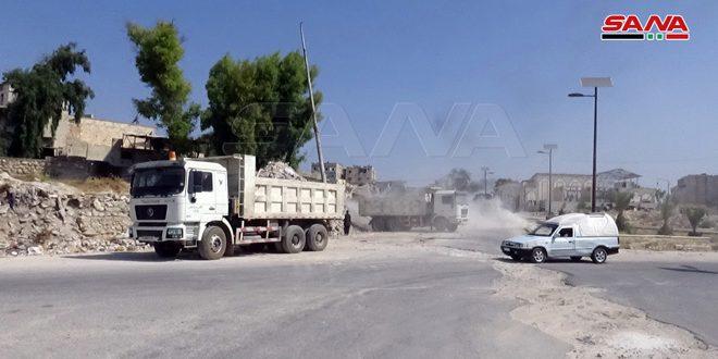 В Алеппо продолжаются работы по сносу зданий и вывозу обломков и мусора в районах, освобожденных от терроризма