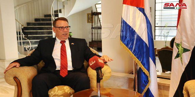 Посол Кубы в Дамаске : Отношения между его страной и Сирией основаны на взаимном уважении