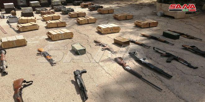 В провинции Дараа обнаружен принадлежавший террористам склад оружия и боеприпасов