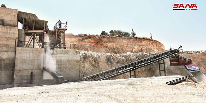 В провинции Хама возобновил работу завод по производству стройматериалов
