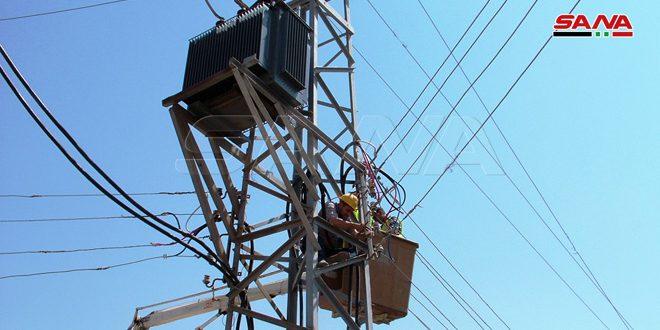 В шести населенных пунктах провинции Дараа восстановлено энергоснабжение