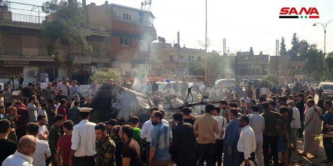 В Хасаке 2 человека пострадали при взрыве заминированного микроавтобуса