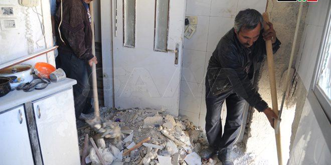 Израильская агрессия причинила значительный ущерб жилым домам в пригородах Дамаска