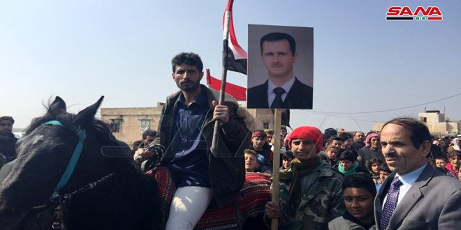 В окрестностях Эль-Камышлы представители сирийских племен организовали мероприятия в поддержку Сирийской армии