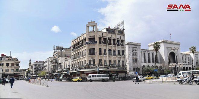 Дамаск сегодня в условиях правительственных мер для противостояния угрозе распространения коронавируса