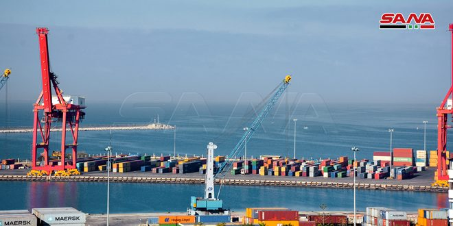 В порт Латакия доставлено грузов общим весом более 805 422 тонн