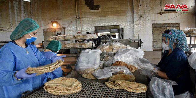 В Хомсе работники пекарен продолжают принимать меры предосторожности в борьбе с коронавирусом