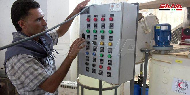 Станция водоснабжения «Нафаша» обеспечивает водой 34 населенных пункта на востоке провинции Хасаке