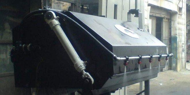 Сирийский изобретатель создал электрическую подметально-уборочную машину