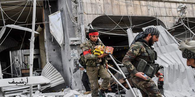 В провинции Хасаке в районе Рас Аль-Айн наемники турецких оккупантов разграбили церковь Мар Тума