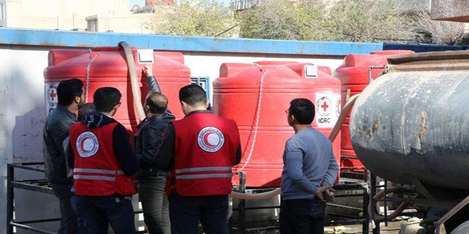 В школах города Хасаке установлены 50 баков с питьевой водой