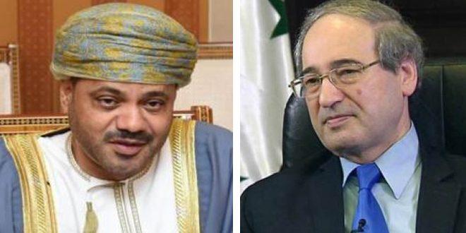 Аль-Мекдад и Аль-Бусаиди обсудили расширение сотрудничества между Сирией и Оманом