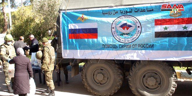 Россия предоставила гуманитарную помощь перемещенным семьям в провинции Сувейда