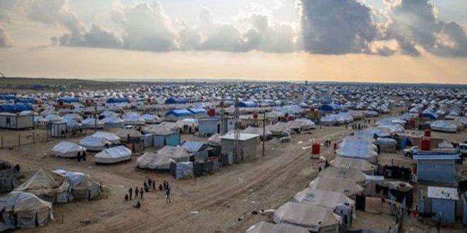 Четыре человека погибли при пожаре в лагере «Аль-Холь» в Хасаке