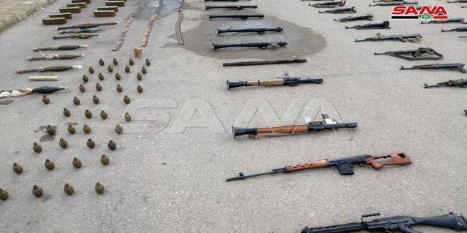 В Дараа изъято большое количество оружия и боеприпасов террористов