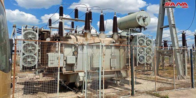 Электрическая подстанция «Дербасия» в провинции Хасаке после пожара вновь введена в эксплуатацию