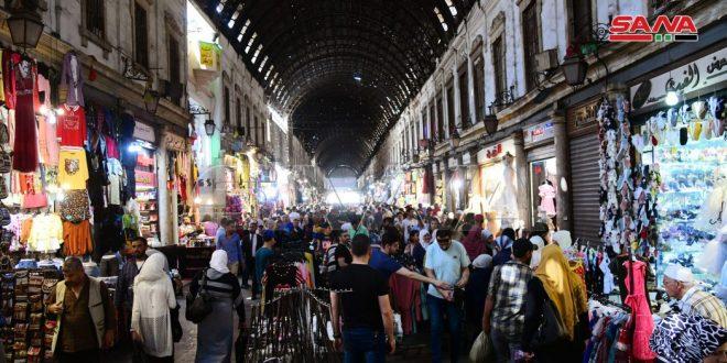 Рынки Дамаска и Хамы накануне праздника Ид Аль-Фитр (фото)