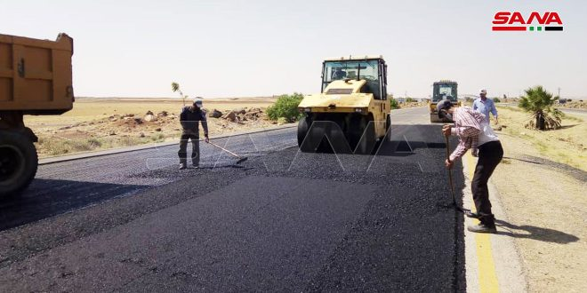Ремонтные работы на автотрассе Дараа – Дамаск завершены на 70 процентов
