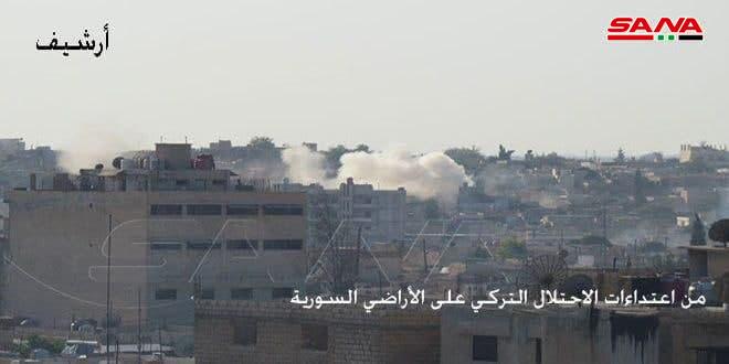 Турецкие оккупанты и их наемники усилили атаки на окрестности Тель-Тамра в провинции Хасаке