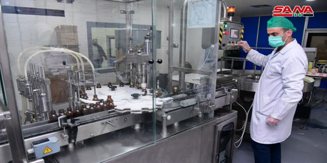 Производство сирийской фармацевтической компании Thameco превышает 12 млрд сирийских фунтов