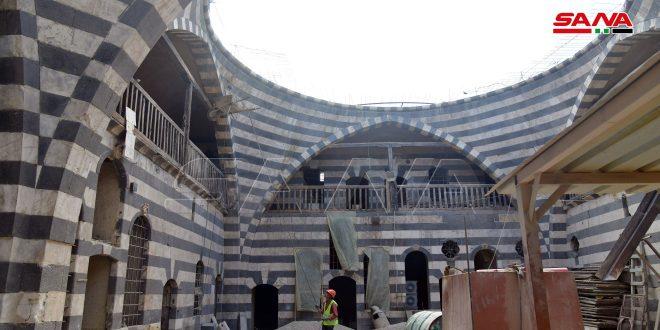 Şam'da Süleyman Paşa Hanı Restore Aşamasının Sonlarında