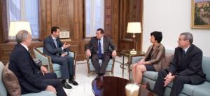 President al-Assad_French delegation 2