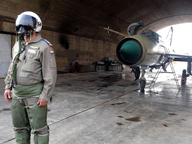 Syrian Air Force pilots… defending Syria and its people from