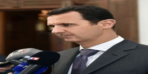 al-Assad- French delegation1