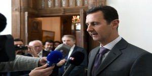 al-Assad- French delegation2