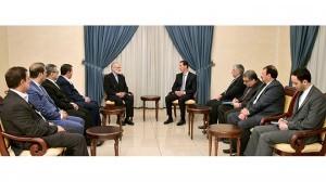 President al-Assad-Kamal Kharrazi-Iran 2