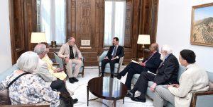 President al-Assad-British delegation 1