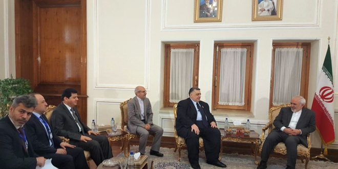 Sabbagh meets Zarif and Velayati: Bilateral cooperation to support field victories through political achievements