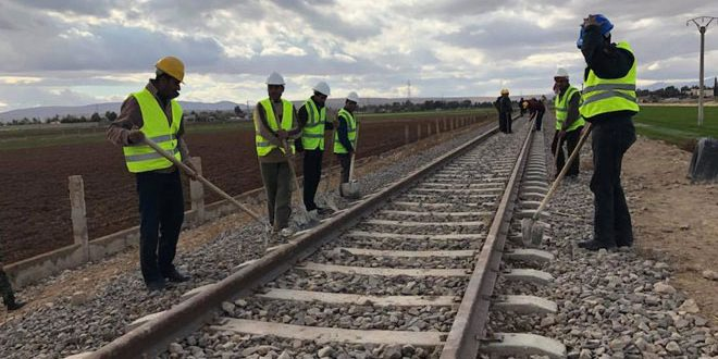 Transport Ministry starts extending railway from al-Qadam station to New Fairgrounds