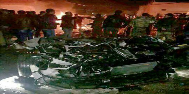 Five citizens killed, 7 others injured in a terrorist car bomb explosion in Qamishli
